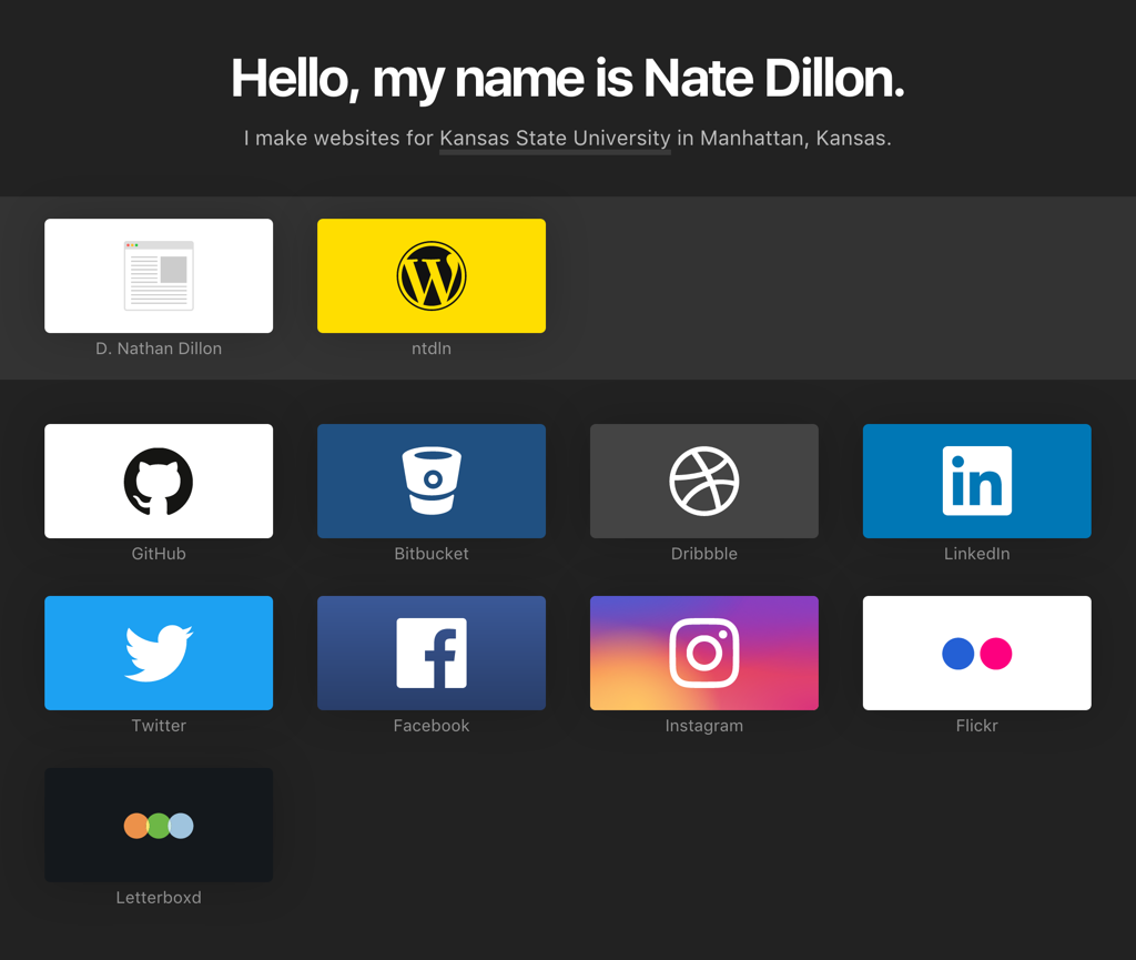 Screenshot of NateDillon.com